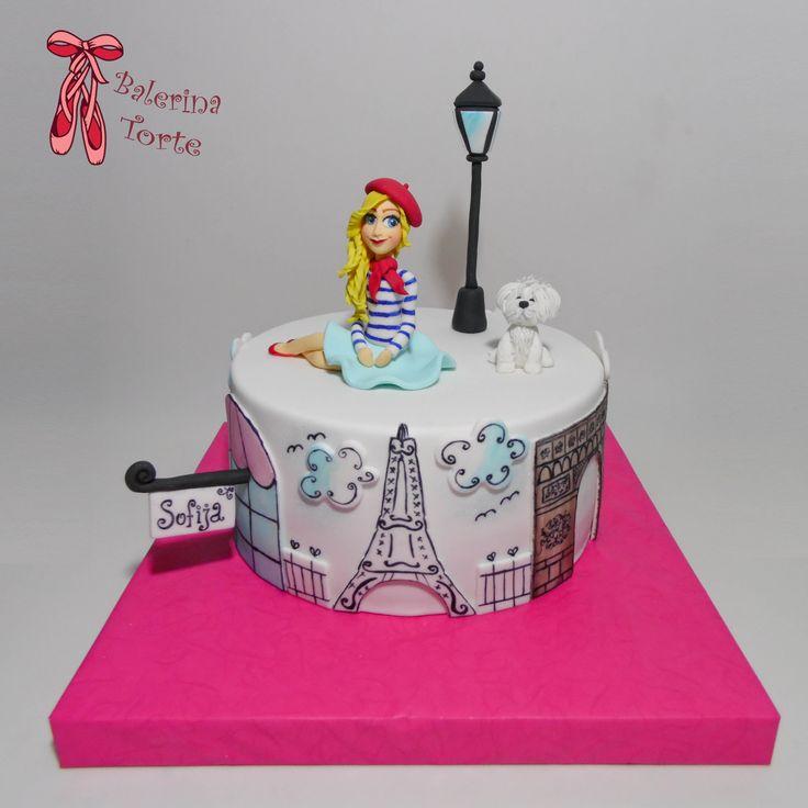 Birthday Cakes For Girls Za ~ Paris girl cake pariz torta za devojcice by balerina torte jagodina cakes