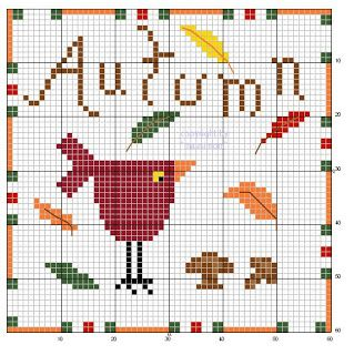 Cross-stitch seasons