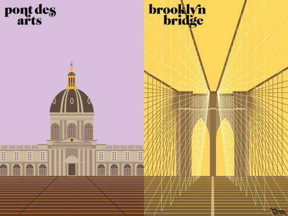 Paris VS New York ▼「橋といえば」 パリ「ポンデザール ニューヨーク「ブルックリン橋」