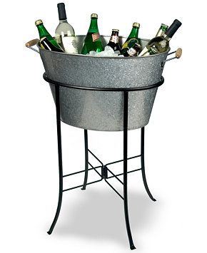 Artland Oasis Galvanized Tin Party Tub with Stand - Serveware - Dining & Entertaining - Macy's Bridal and Wedding Registry