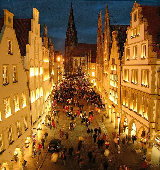 That's the place I usually am at this time of the year. Good old Germany. Christmastime. Muenster.