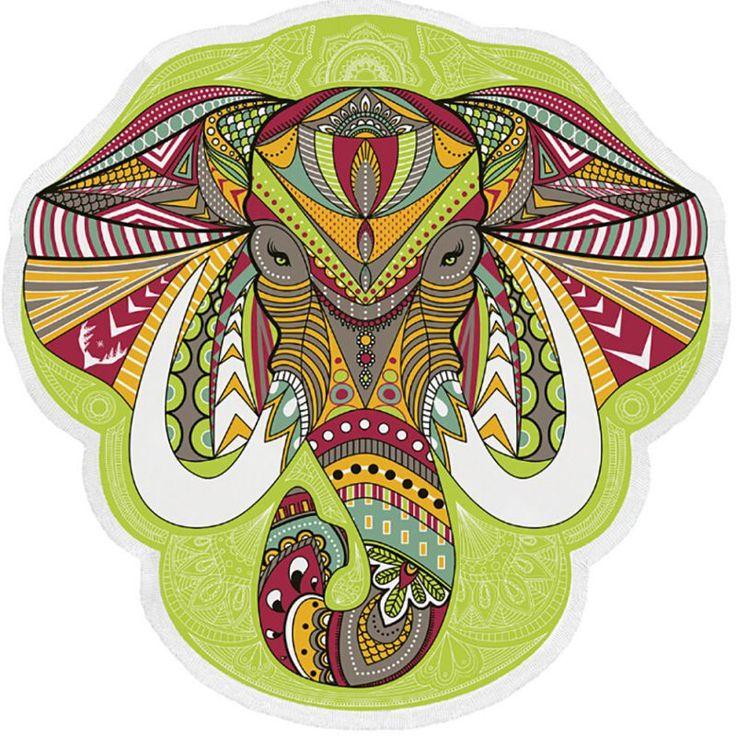 Wall Hanging Mandala Mandala Blanket Elephant Tapestry Rainbow Stripes Travel Summer