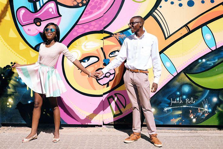 Judith Belle Doubell Adventure Stories Portrait Couple Photography Johannesburg Urban Maboneng Graffiti Street Art Jozi Skyline Carlton Centre Joburg Photo Tourist fun South Africa