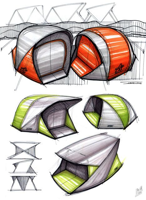 cool sketches #id #design #product #sketch #tent