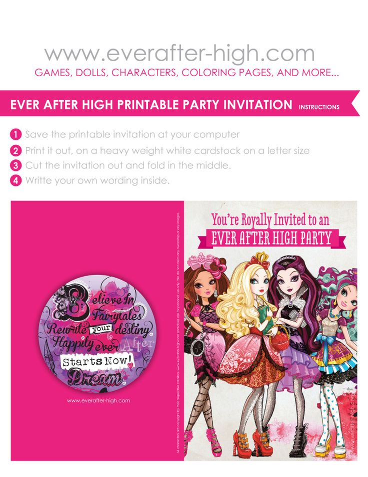 108 best Ever after high party images on Pinterest | Ever after high ...