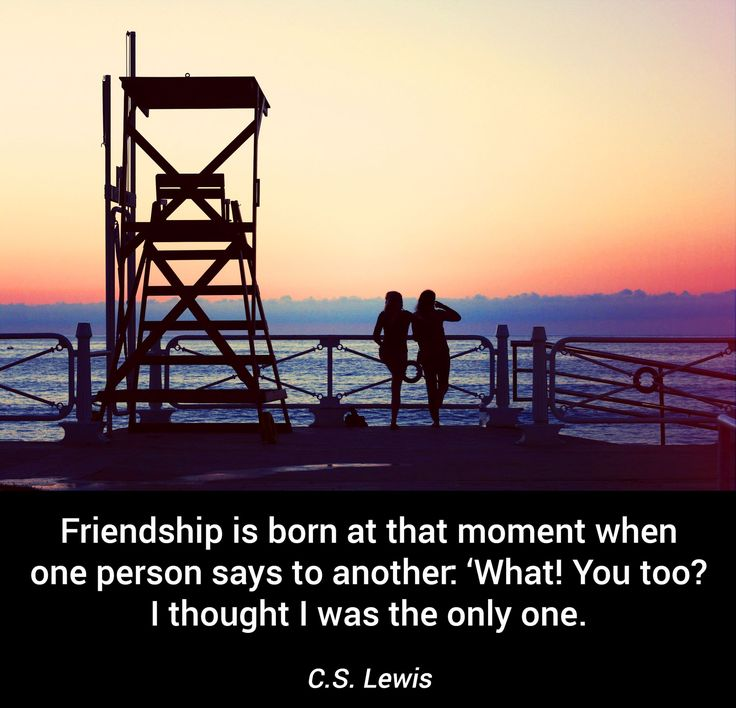 #quotes #beyourselfbehappy #friendship #love #brain #motivation #soulmate #friend #love #greatfullness  Be Yourself Be Happy Friendship is born at that moment when one person says to another: 'What! You too? I thought I was the only one. C.S. Lewis