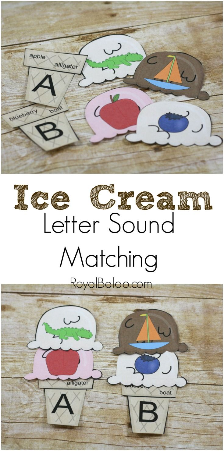 Top 25 best letter sounds ideas on pinterest sounds of free ice cream letter sound match printable practice letters and letters sounds robcynllc Gallery