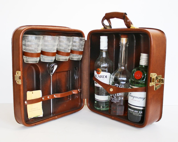 Reserved For Tina Vintage Travel Bar Set A Lady The O