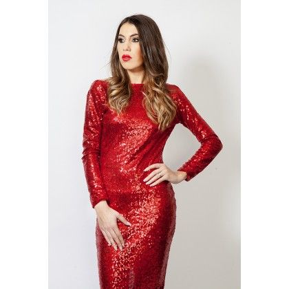 #Sequin #Red #Dresss #StadaBoutique #RomanianDesigner #GeorgianaStavrositu