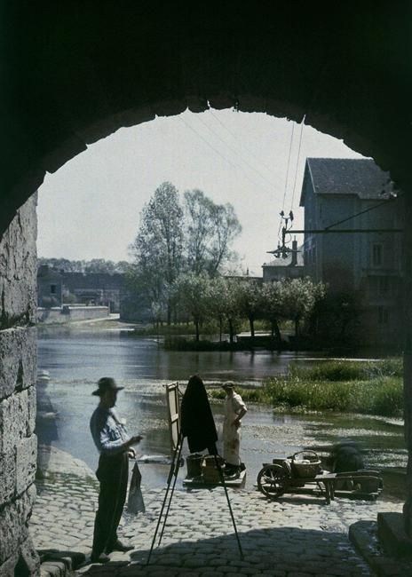 1920. Henri Chouanard. Peintre à Moret-sur-Loin
