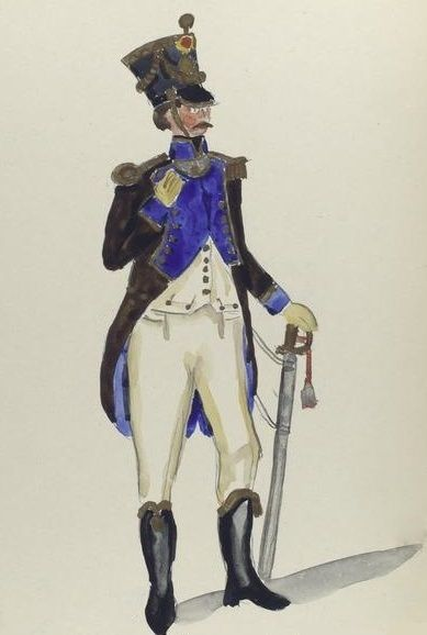 2º Regimiento de Infanteria de Línea Toledo 1810 Tus Officier T