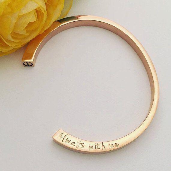 Rose Gold Cremation Urn Bracelet Hand by MotherDaughterJewel