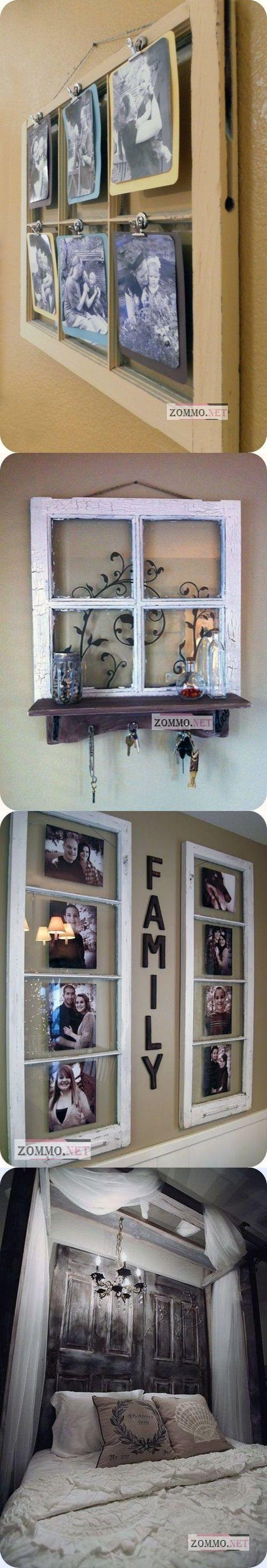 Креативные идеи, как использовать старые окна