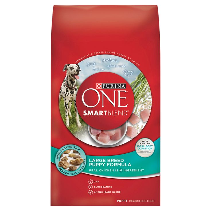 Purina One SmartBlend Large Breed Puppy Formula Puppy Premium Dry Dog Food - 16.5lb bag, Burmese Beige