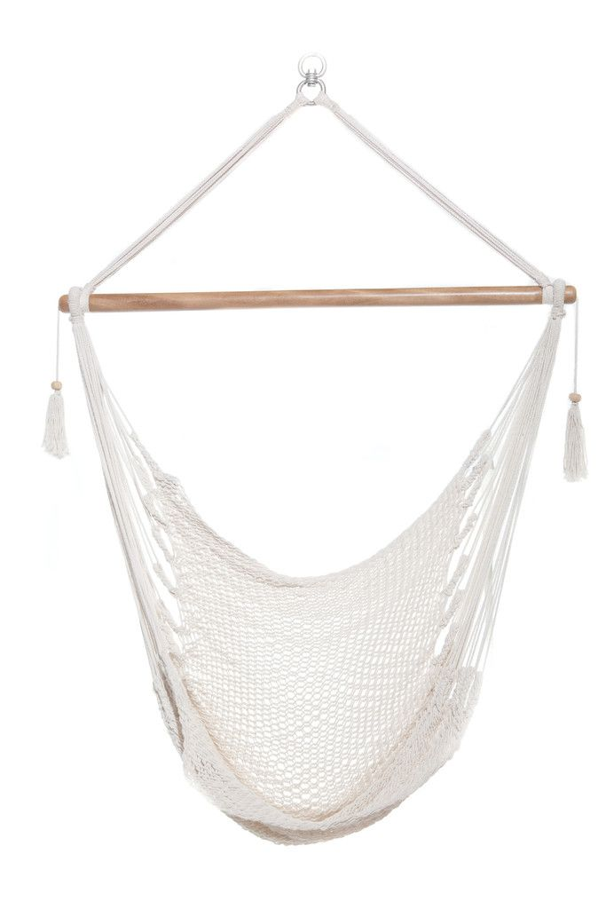 Enjoy your Music. Off-White Organic Cotton Hanging Hammock Swing Porch | Consists of 100% Organic Manila Cotton | 100% Diligently Handwoven
