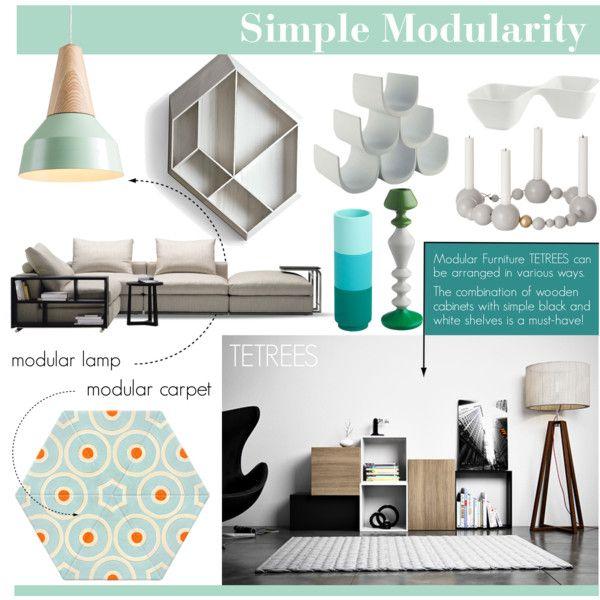"""NEW TREND - Modularity"" by tetrees on Polyvore #simple #minimal #simplicity #modern #home #design #interior #decor #interiordesign #modular #furniture #tetrees"