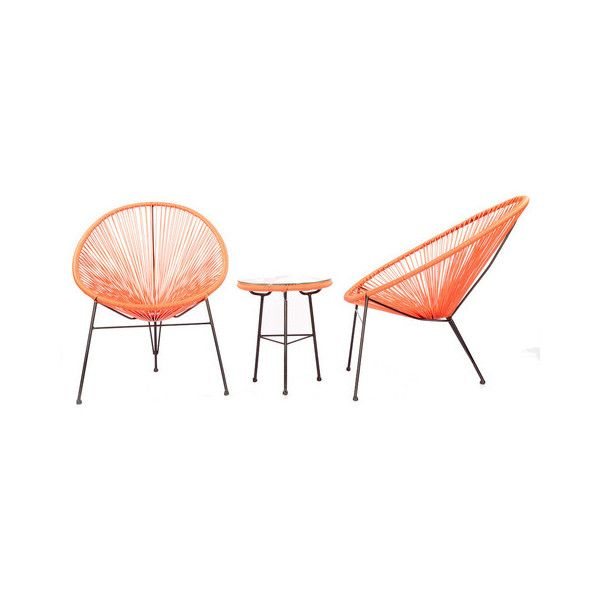 acapulco 3 piece outdoor chairs and table set pink modern outdoor