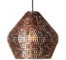 LAMPA wisząca MESH PL-13140-CP Zumaline orientalna OPRAWA zwis bryła miedź