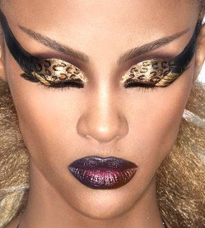 little crazy on the eyes. but if it were just but the lids itd be better. love it with the combo of the lips