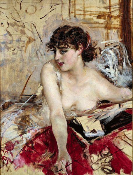 Giovanni Boldini (1842-1931) - Letter in the Morning