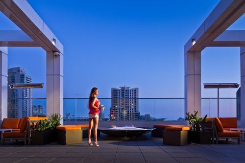 Andaz San Diego - A Hyatt Hotel - On weekends, the temperature climbs even higher as our Ivy Rooftop pool turns into a sultry hotspot, complete with bottle service and premium liquors. Dance through the night as DJs spin at our iconic four-story Ivy Nightclub.