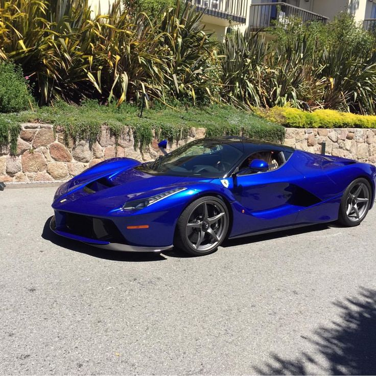 Ferrari LaFerrari painted in Blu Elettrico Photo taken by: @bayareanady on Instagram
