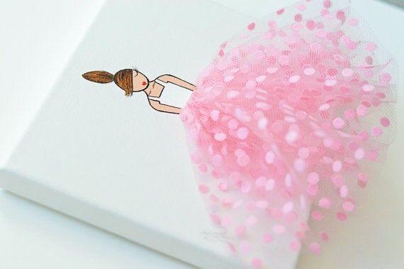 Baby Girl Nursery Decor Ballerina Art Baby Girl by ShenasiConcept