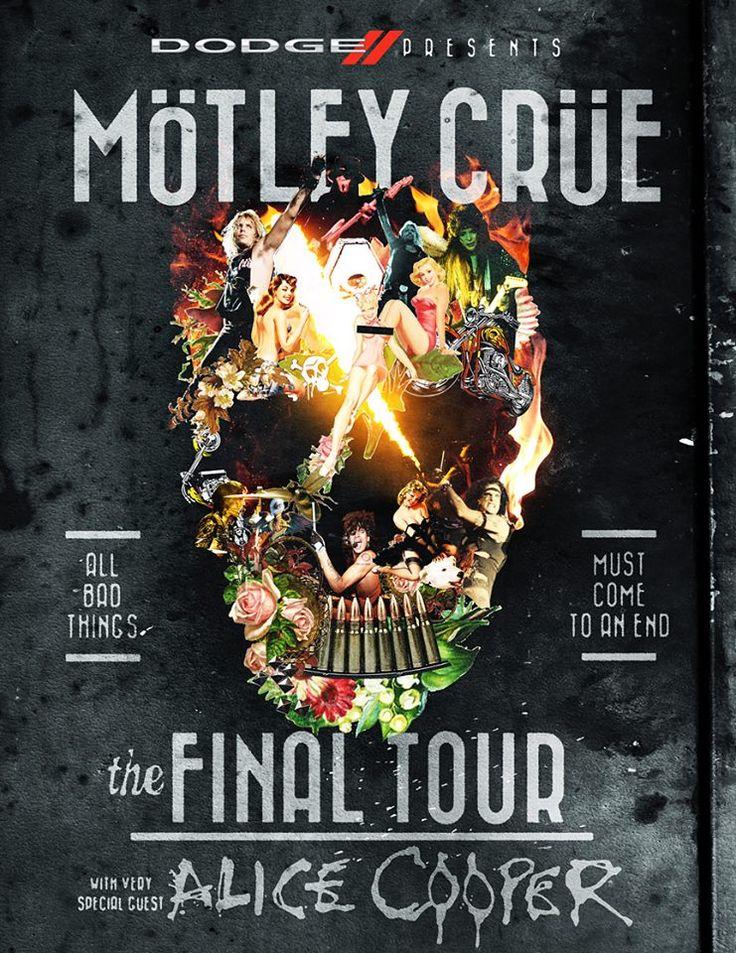 Motley Crue Announce The Final Tour Digital Tour Bus Motley Crue Alice Cooper Concert Posters