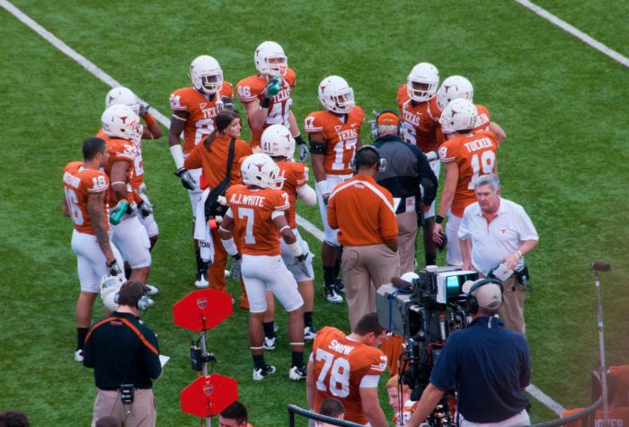 The UT football team celebrated its first undefeated season here in 1893, a tradition that has lived on over the years.