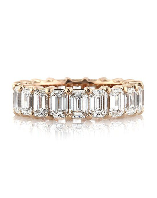 6.30ct Emerald Cut Diamond Eternity Band in 18k Rose Gold