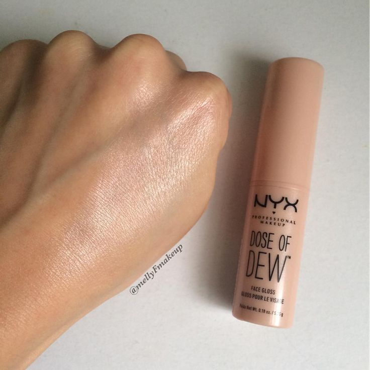 "Mel on Instagram: ""NYX Dose of Dew Face Gloss. This stuff is awesome! It is a twist-up stick like a lipstick. Basically it gives your skin a dewy appearance…"""