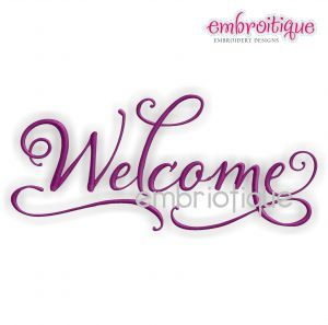 Embroidery Designs (All)   Elegant Welcome Home Decor On Sale Now At  Embroitique!