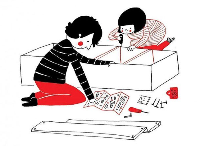 14 illustrazioni di piccoli momenti quotidiani che rendono felice una coppia | Pagina 5 di 12 | Darlin Magazine