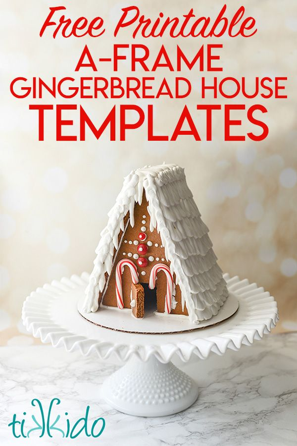 a frame gingerbread house template  The BEST Gingerbread House Recipe and Printable Templates ...
