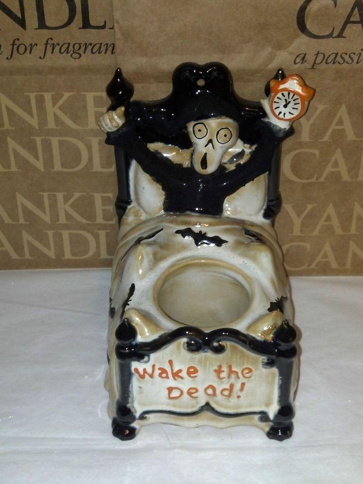 Yankee Candle Boney Bunch Wake The Dead Bed Votive Holder Halloween NIB #YankeeCandle