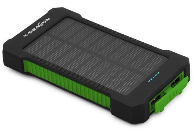 New Solar Power Bank 10000mah Dual Usb Solar Battery Charger Solar Power Bank Power Bank Charger