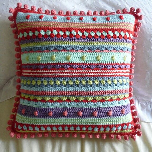 Crochet pillow cover could be a CAL pattern
