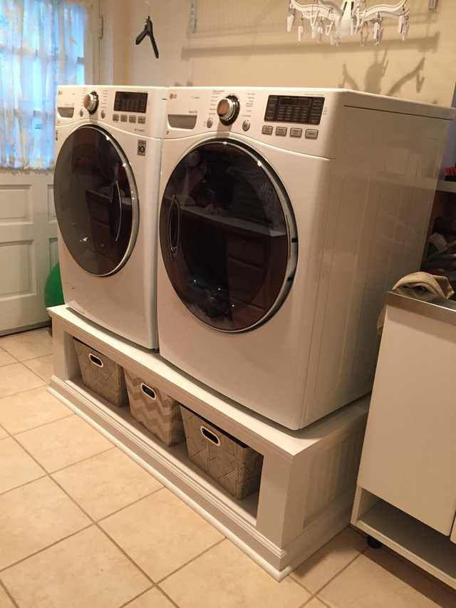 Diy Washer Dryer Stand Washer And Dryer Stand Dryer Stand