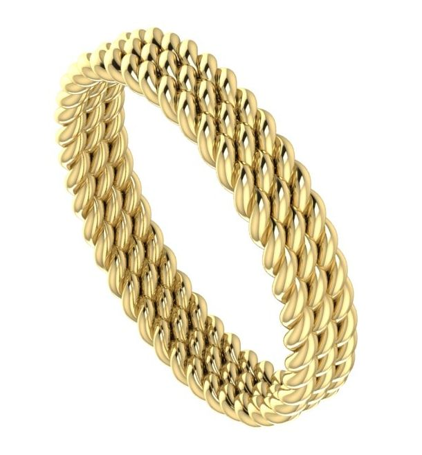 Yellow gold twisted wedding band, each is made to order at Nude Jewellery.  #unusual #wedding #rings #band #modern #contemporary