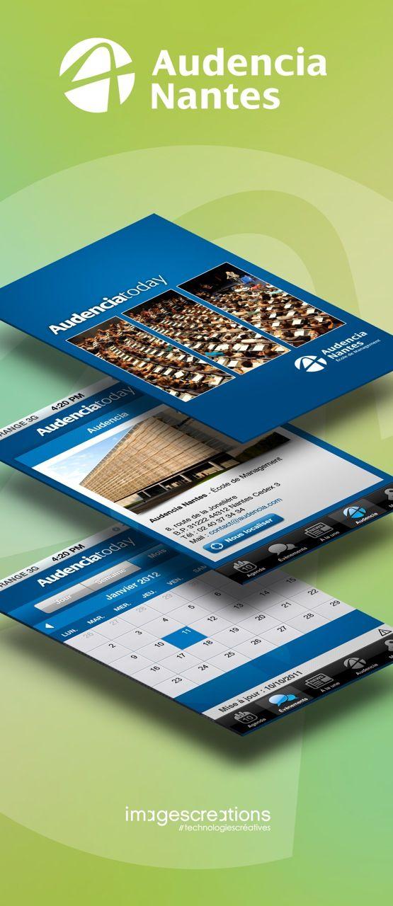 Application Audencia Today (réalisation et développement, agence Web & Mobile www.imagescreations.fr)