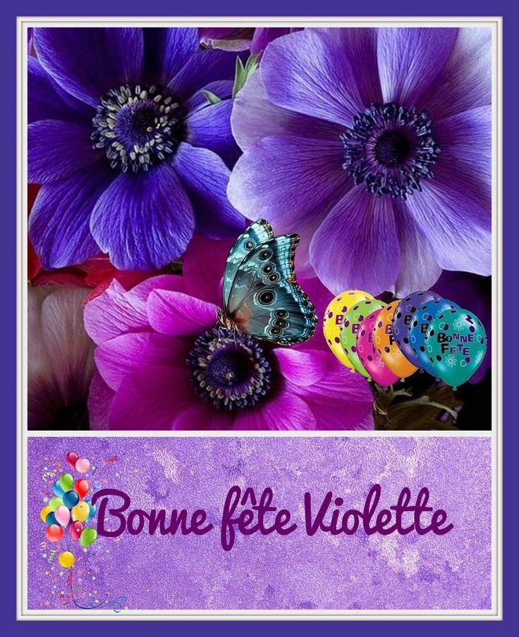 Gifs Bonne Fête prénom Violette - 5 octobre