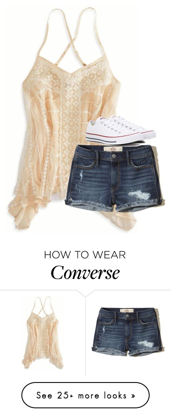 """""""Untitled #3309"""" by laurenatria11 on Polyvore featuring American Eagle Outfitters, Hollister Co. and Converse"""