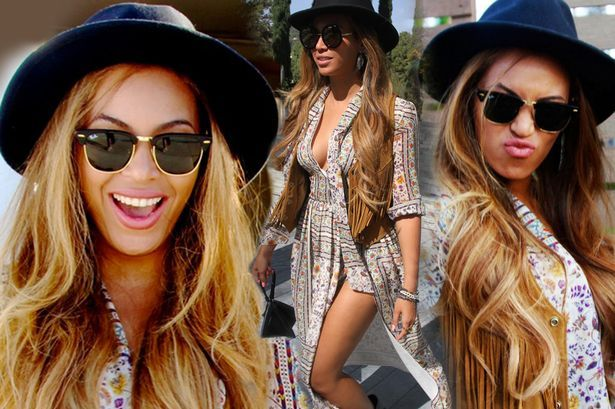 Beyonce shows off her booytlicious body in plunging dress at Coachella