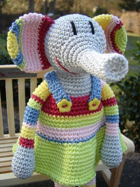 Little crochet Elephant - cute Crochet creatures by ...