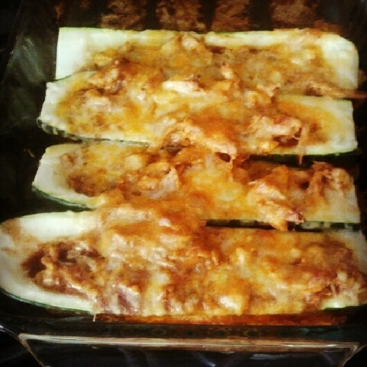 chicken enchilada stuffed zucchini | I did it and it turned out ...