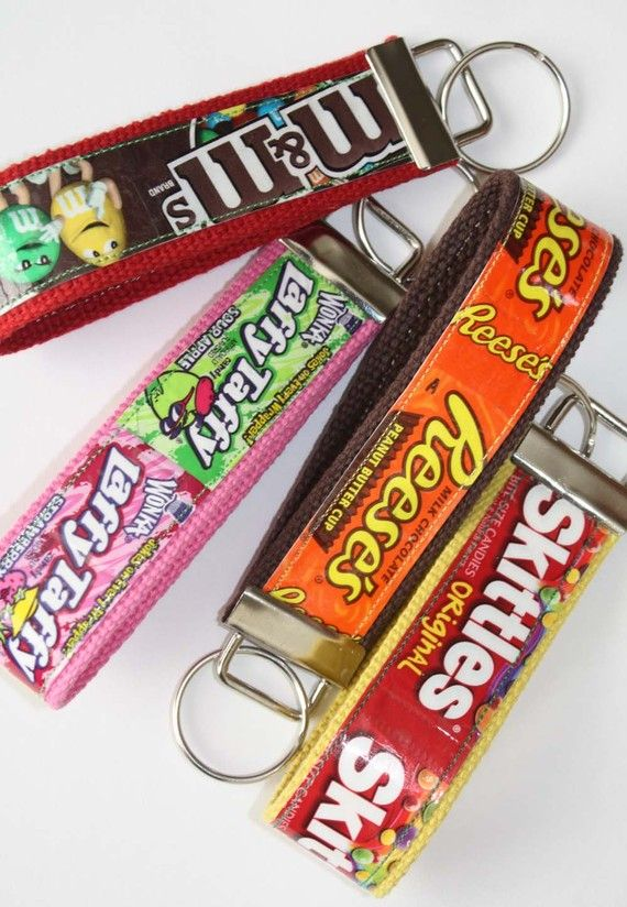 Etsy Transaction - Laffy Taffy candy wrapper Key Fob Wristlet