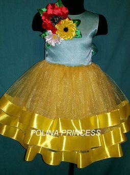 Платье на девочку в украинском стиле