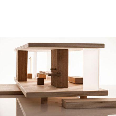 Puppenhaus Holz möbliert modern modular sirch Design - dorfhaus