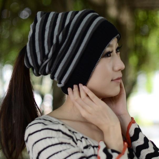 Вязаные шерстяные шляпы для женщины Touca Gorro шапки твердые мягкие Skullie шапочки 3-в-1 новогодний колпак взрослых унисекс шеи теплый шарф M186