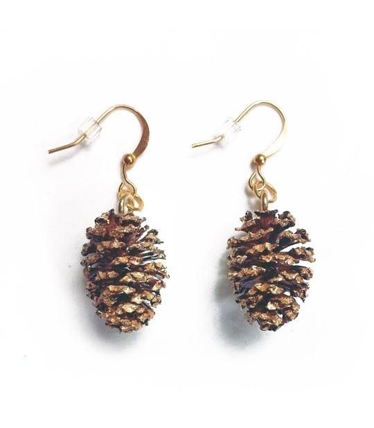 Real Alder Cone Earrings - Jennifer Rong Designs and Cambio Market